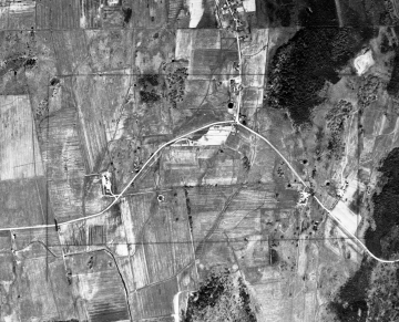 Aerial of Road and Fields