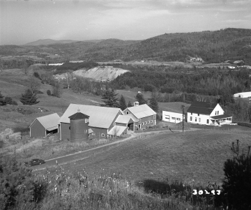 Farm Buildings and Dwelling in Lyndon, View from Hill