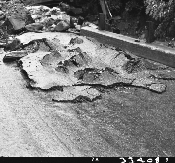 Paved Road Flood  Damage