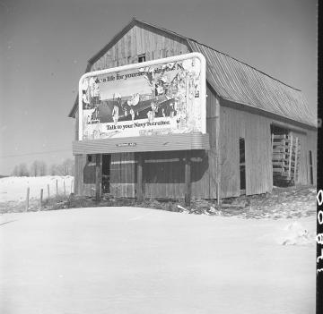 Billboard on Barn