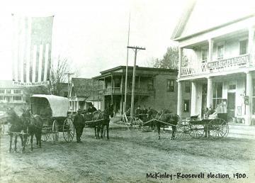 Main Street Cabot, McKinley-Roosevelt election,