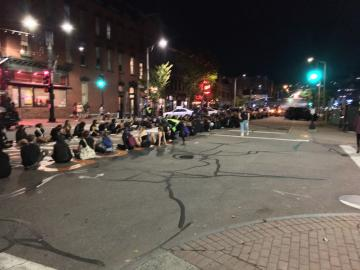 BLM protest on Main Street