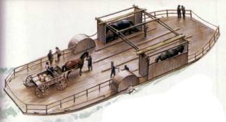 Image result for horse powered ferry boat