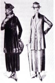 Women's Clothing - 1910s - Clothing - Dating - Landscape
