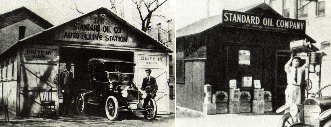Makeshift Drive In Stations Without Canopies Gas