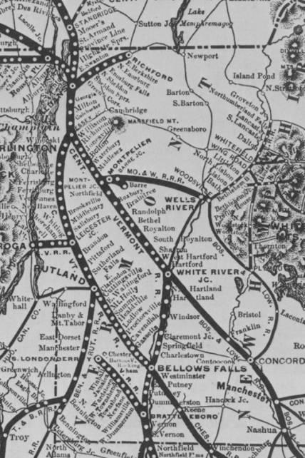 1885 Rail Map - Construction - Railroad History ...