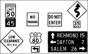 Dating road signs