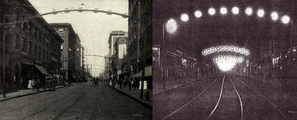 Early Arc Lights Street Lighting Dating Landscape
